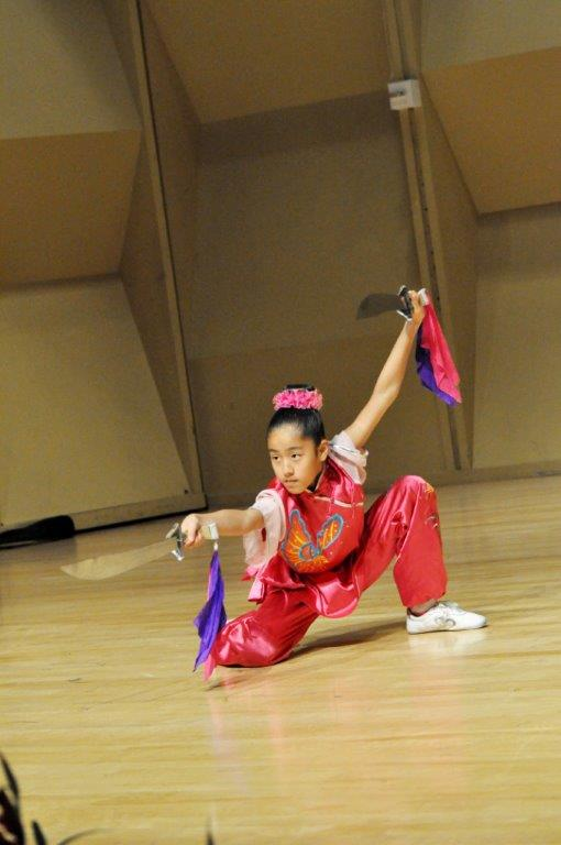 Ava Yu on double broadsword (Ava has won over 30 gold medals)